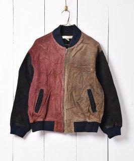 古着本革アシンメトリーデザインブルゾン 古着のネット通販 古着屋グレープフルーツムーン