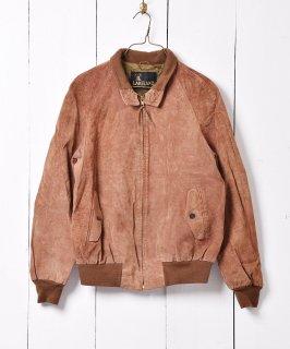 古着本革レザーブルゾン ナチュラルカラー 古着のネット通販 古着屋グレープフルーツムーン