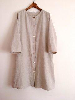 コットンリネンのAライン羽織りワンピース