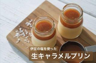 【当店人気No.2プリン】-伊豆の塩を使った-生キャラメルプリン12個★保冷バック付き★