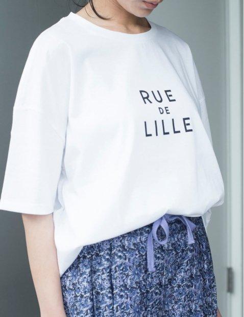 デラヴェ<br>プリントTシャツ<br>【LILLE】
