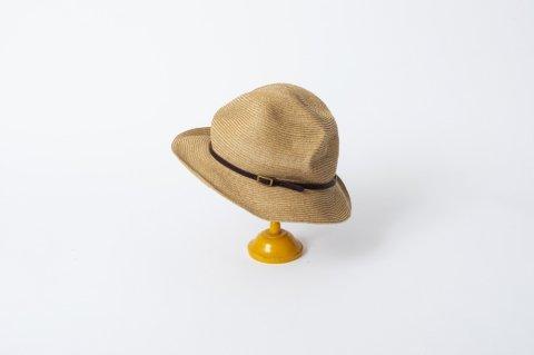 BOXED HAT<br>6.5cm brim<br>leather belt