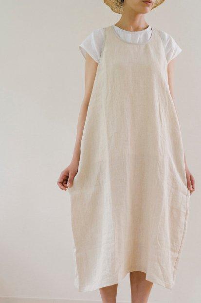 LONG DRESS SLEEVELESS U NECK