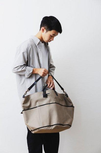 BIVOUAC<br>L bag<br>cotton canvas<br><GALET>