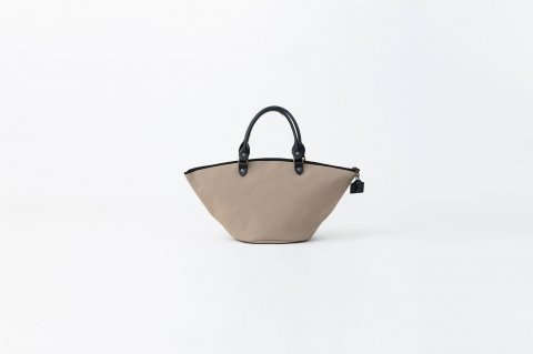 ZANZIBAR bag<br>.XS.cotton ZIPPE<br><GALET>