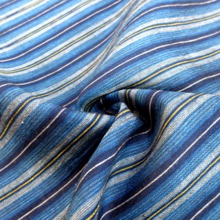 アイスコットン着物生地(紺藍 縞) 10�