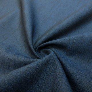 西陣織 草木染め紬生地(紺色) 10�