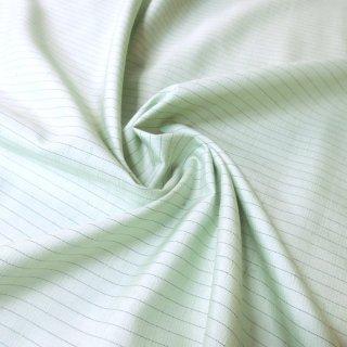 紬ストライプ生地 75�巾(ライムグリーン) 10�