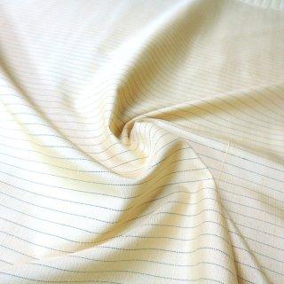 紬ストライプ生地 75�巾(アップルグリーン) 10�