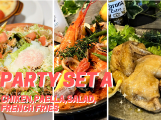 <img class='new_mark_img1' src='https://img.shop-pro.jp/img/new/icons25.gif' style='border:none;display:inline;margin:0px;padding:0px;width:auto;' />Party Set A【Chicken・Paella M・Salad・Fish or Chiken&Chips】