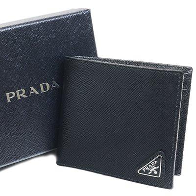 PRADA プラダ 2MO738 QHH F0002 SAFFIANO TRIANG NERO ブラック 二つ折り財布