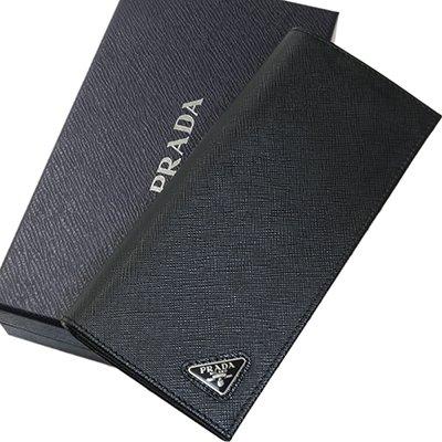 PRADA プラダ 2MV836 QHH F0002 SAFFIANO TRIANG NERO ブラック 長財布 ドキュメントホルダー
