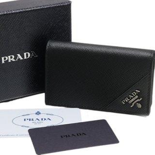 PRADA プラダ 2MC122 QME F0002 SAFFIANO METAL NERO ブラック 名刺入れ カードケース