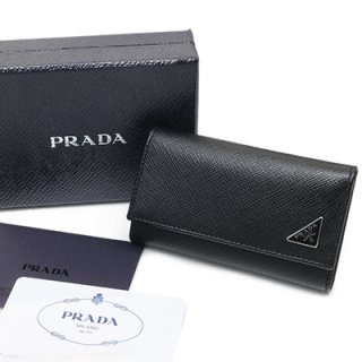 PRADA プラダ 2PG222 QHH F0002 SAFFIANO TRIANG NERO ブラック 6連フック キーケース