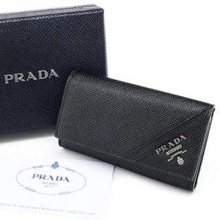 PRADA プラダ 2PG222 QME F0002 SAFFIANO METAL NERO ブラック 6連フック キーケース