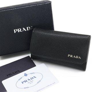 PRADA プラダ 2PG222 QTD F0002 SAFFIANO CORNER NERO ブラック 6連フック キーケース