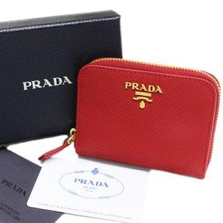 PRADA プラダ 1MM268 QWA F068Z SAFFIANO METAL FUOCO レッド 小銭入れ コインケース ラウンドファスナー