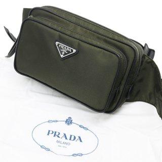 PRADA プラダ 1BL010 064 F0334 TESSUTO SAFFI MIMETICO カーキ ウエストバッグ ボディバッグ