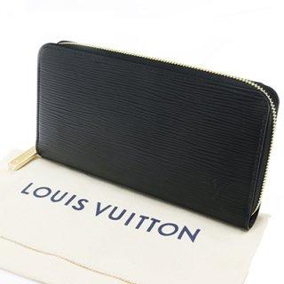 LOUIS VUITTON ルイヴィトン M68755 ジッピー・ウォレット エピ ノワール ゴールド色金具