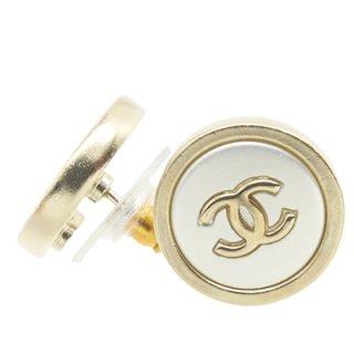 CHANEL シャネル ピアス AB0199 シルバー&ゴールド ココマーク ラウンドシンボル