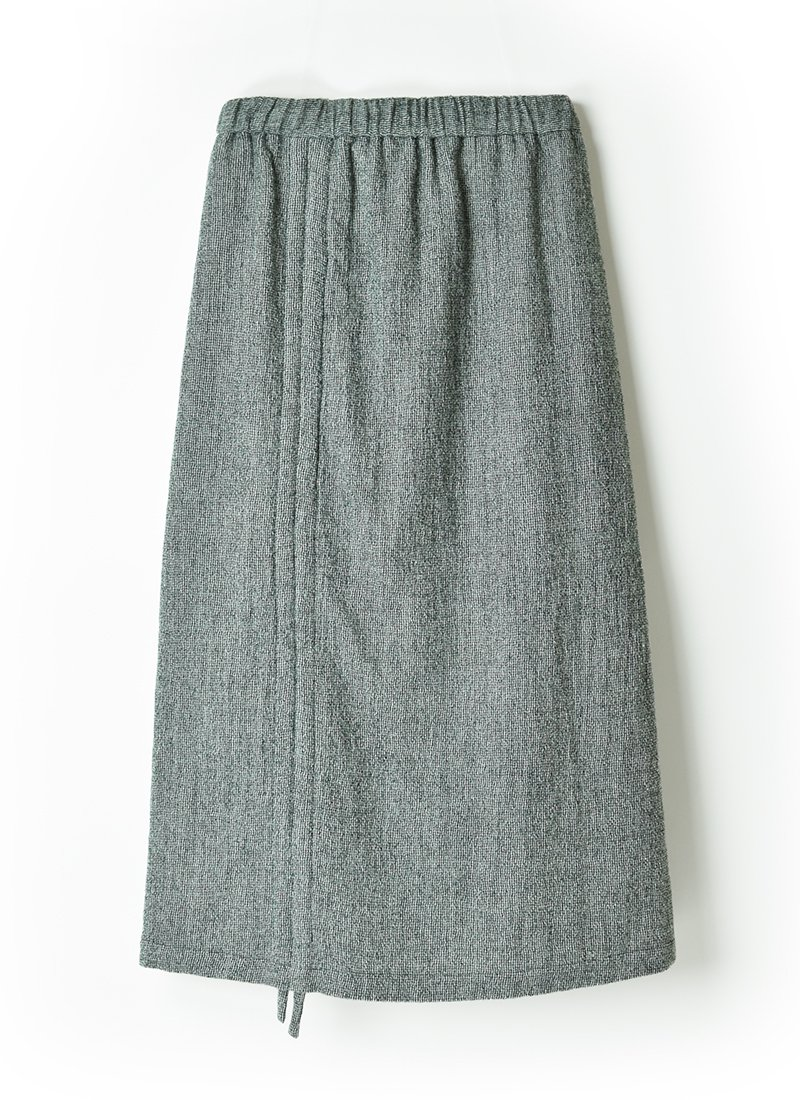 MEYAME Wool Shirring Skirt