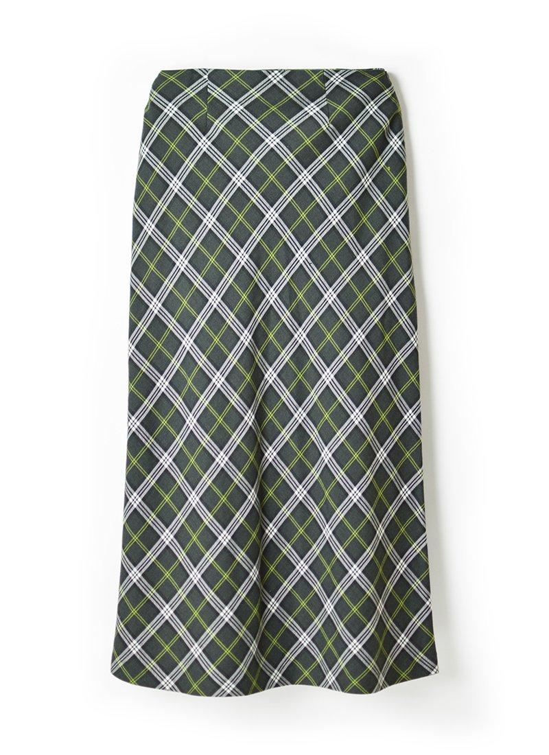 USED Argyle Plaid Skirt