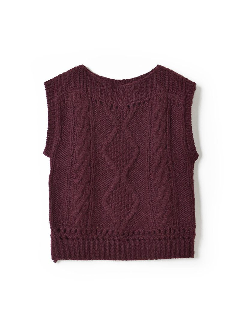 USED Hand-Knit Vest