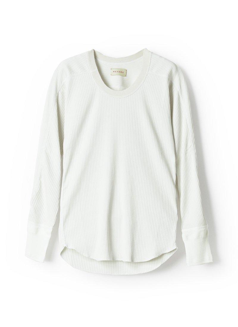 MEYAME Premium Oblong Neck Rib Pullover