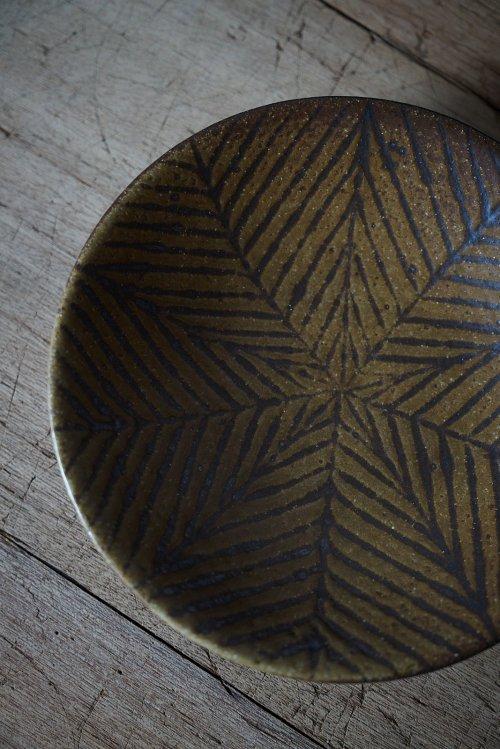 鉄絵平鉢 八寸
