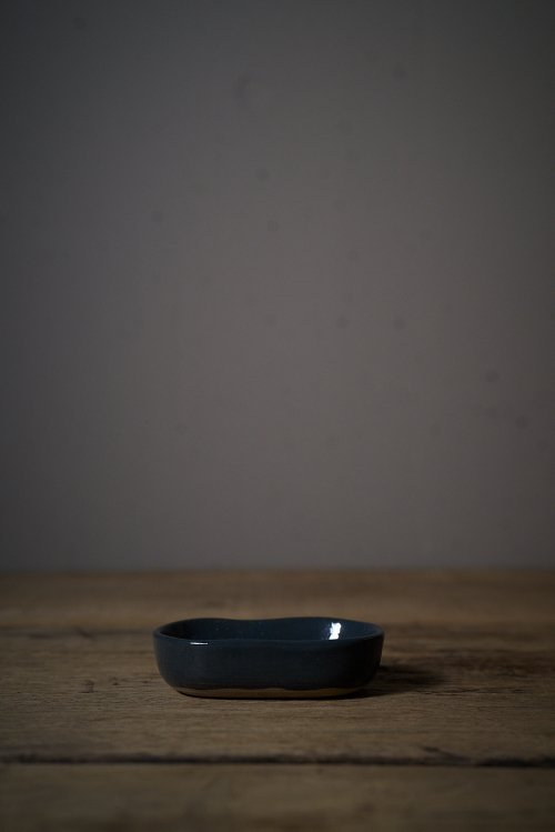 DEEP PLATE MERCI N°8 BLUE/GREY