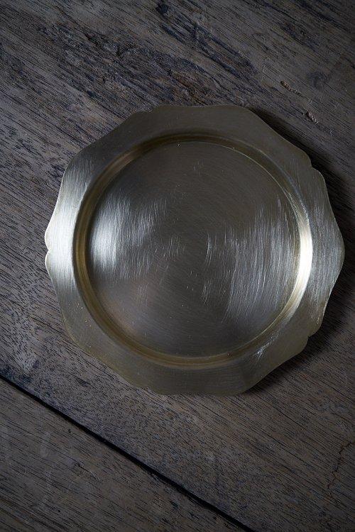 真鍮トレイ 輪花M