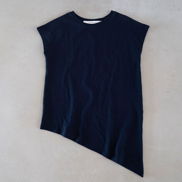 French sleeve bevel edge   navy