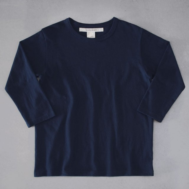 T-shirt 7.8oz solid three-quarter sleeves navy