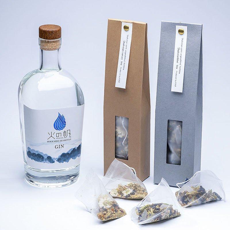 青い海と森の香り「積丹ブルーティー」セット<化粧箱入り500ml・1本+積丹ブルーティー2袋>