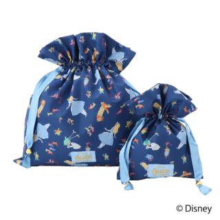 限定生産品 Disney ディズニー 『ふしぎの国のアリス』デザイン 巾着 大小2枚組 婦人用 レディース 数量限定