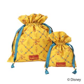限定生産品 Disney ディズニー 『ピノキオ』デザイン 巾着 大小2枚組 婦人用 レディース 数量限定