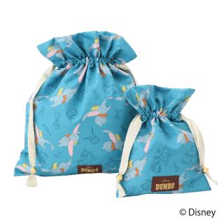 限定生産品 Disney ディズニー 『ダンボ』デザイン 巾着 大小2枚組 婦人用 レディース 数量限定