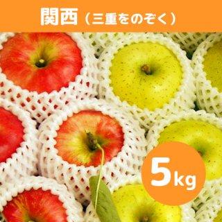 関西にお届け【9月上旬】米崎りんご(さんさ&きおう)詰合せ「秋の訪れ」 5kg