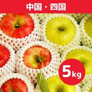 中国地方にお届け【9月上旬】米崎りんご(さんさ&きおう)詰合せ「秋の訪れ」 5kg