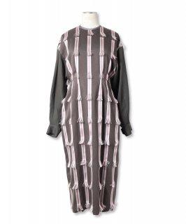 RIBBON JACQUARD DRESS