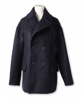 EMBROIDERY PEA COAT