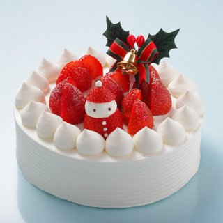 【クリスマスケーキ】<br>イチゴのデコレーションケーキ<br>4号