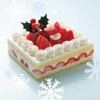 【クリスマスケーキ】<br>イチゴのデコレーションケーキ<br>6号