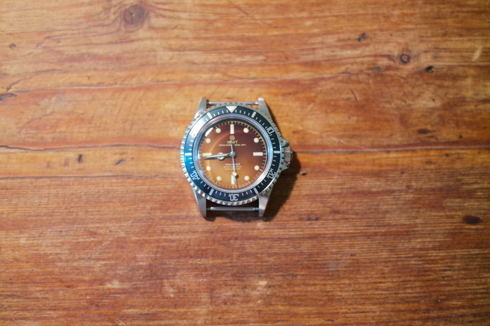WMT WATCH ROYAL MARINE AQUA-TROPICAL NAVY U-BOAT (NEW CASE)