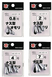 ナス型オモリ(パック入)