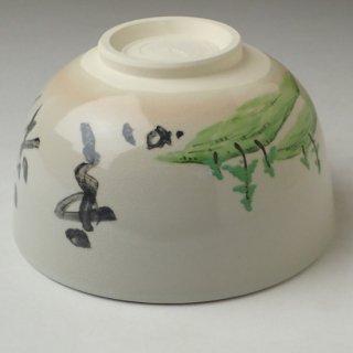 松の絵茶碗 「彩雲」文字 宗完自筆・書付 加賀瑞山作