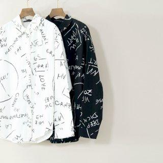 手書き風ロゴシャツ