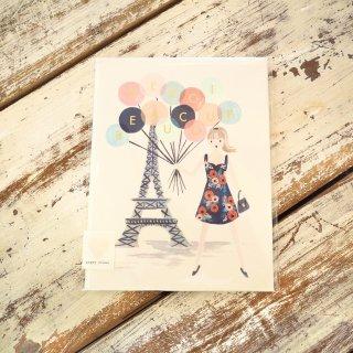 風船ガールありがとうカード