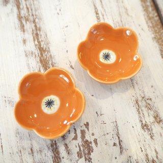 オレンジ色お花箸置き