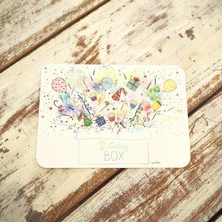 バースデーボックスポストカード